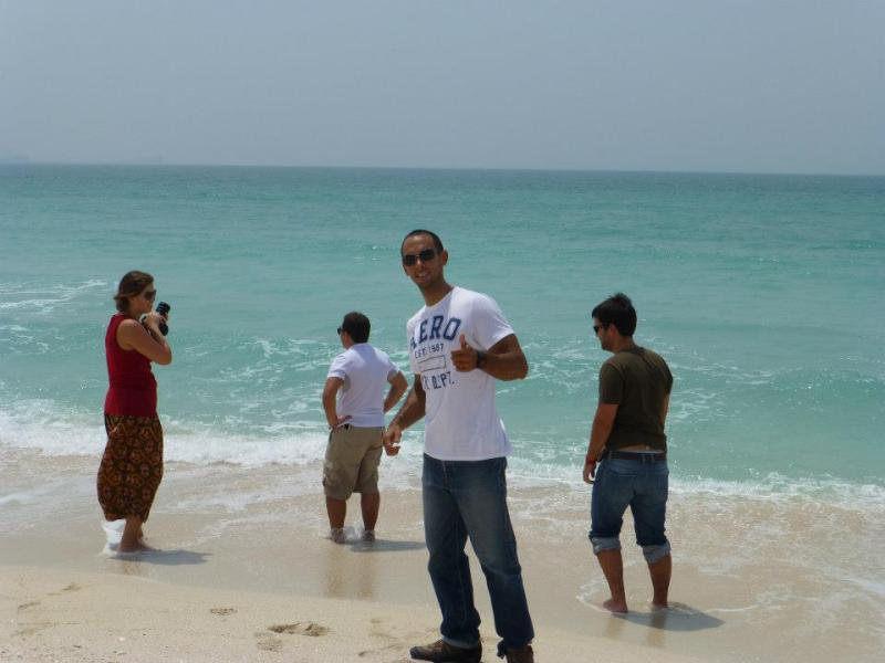 Playa frente al Burj Al Arab