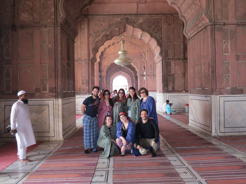 "The ""Bella"" family in the Jama Masjid Mosque"