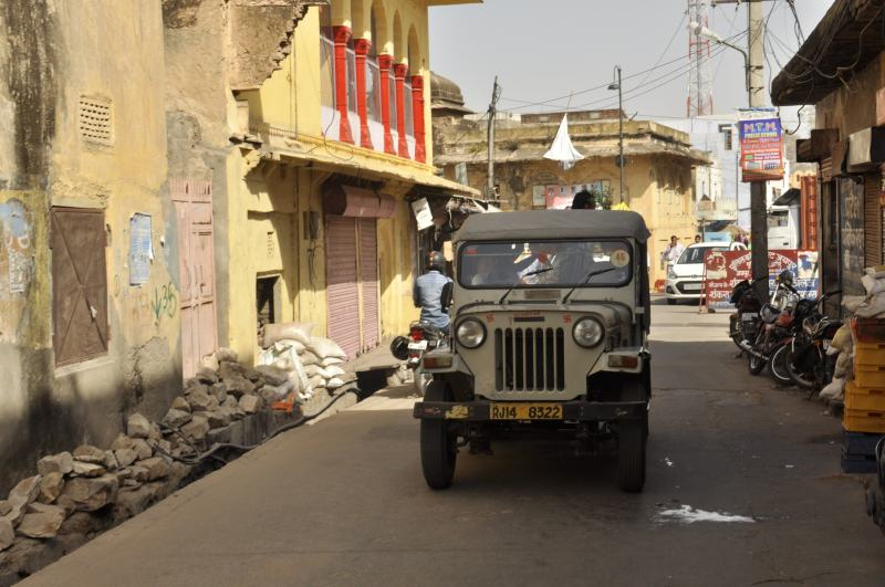 Jeep to go to Amber Fort