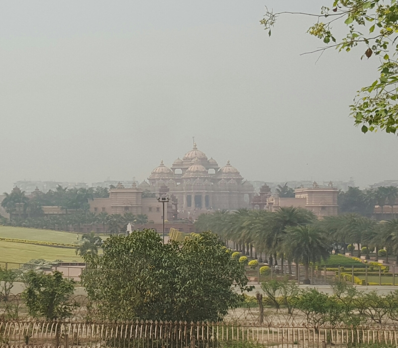 Akshardham Temple from distance