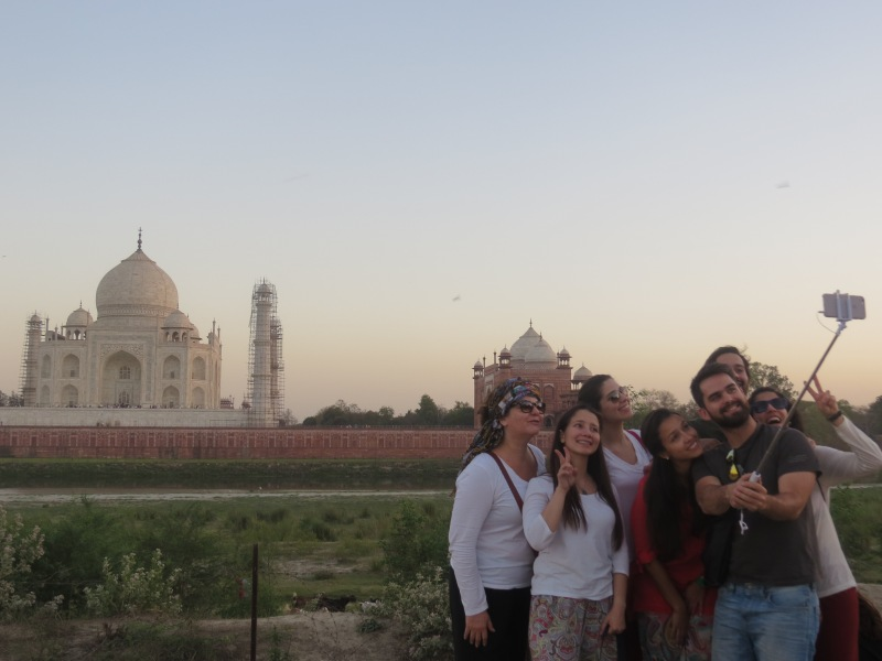 Taj Mahal from Moon Garden