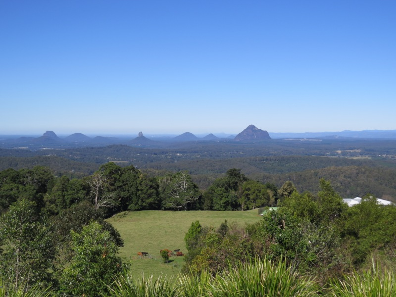 Glass Mountain from Mary Cairnscross Scenic Reserve
