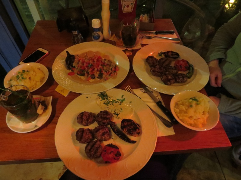 First dinner in Israel